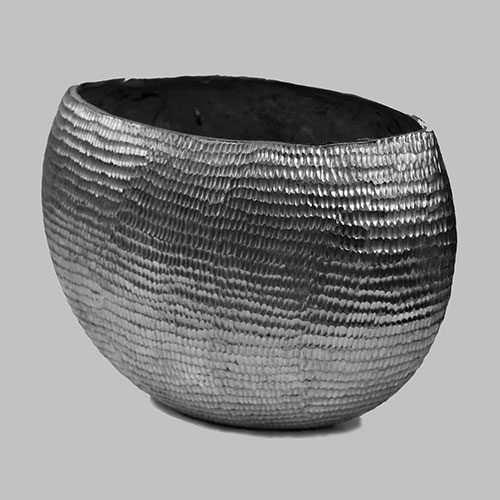 Oval Shaped Aluminium Vase