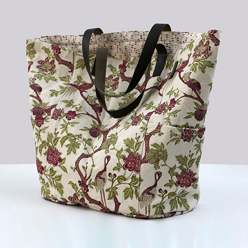 Chintz Tree Of Life Block Printed Tote Bag