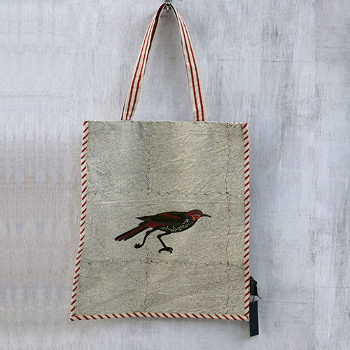 Mughal Bird Block Printed Shopping Bag