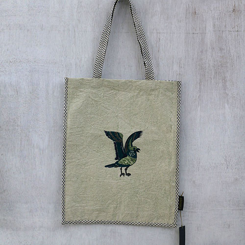 Block Printed Shopping Bag