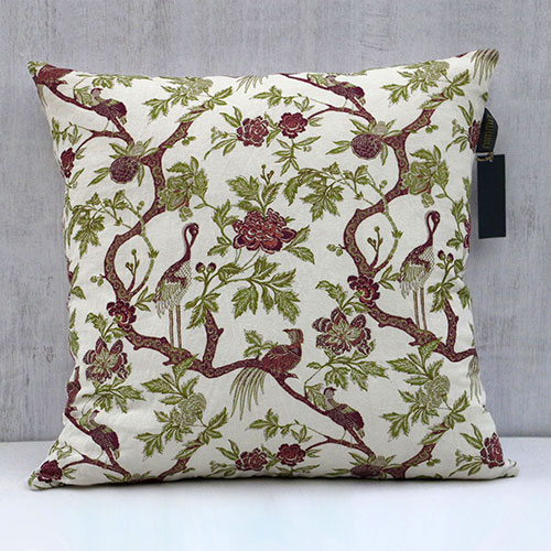 Chintz Tree Of Life Block Printed Cushion Cover