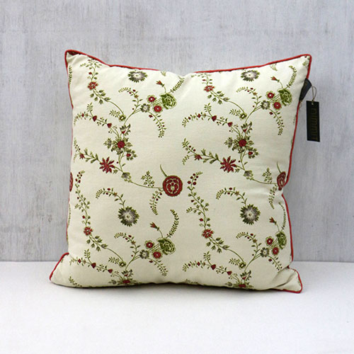 Chintz Jali Block Printed Cushion Cover