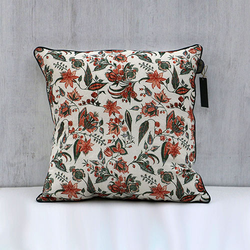 Floral Chintz Printed Cushion Cover