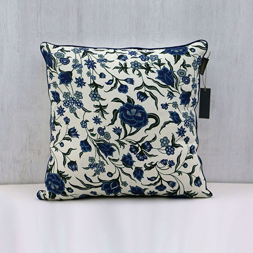 Chintz Flower Block Printed Cushion Cover