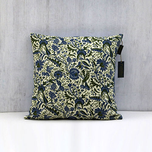 Calico Chintz Block Printed Cushion Cover