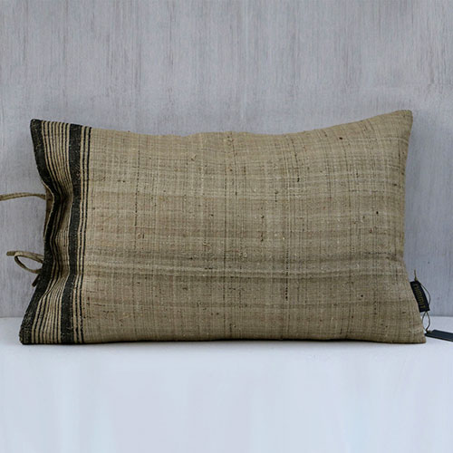 Stripe Printed Organic Silk Cushion Cover