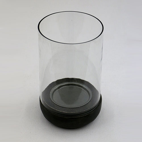 Glass Jar Pillar Candle Stand - Large