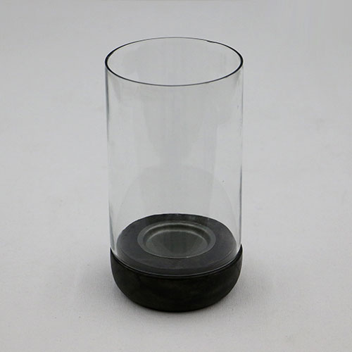 Glass Jar Pillar Candle Stand - Small
