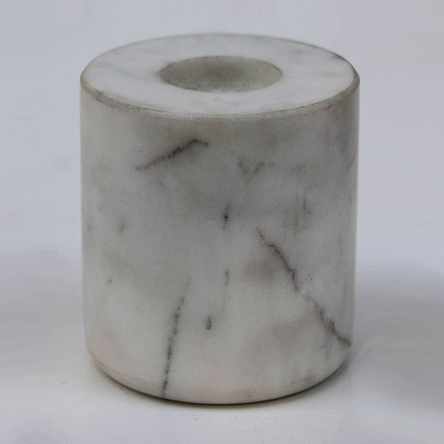 Cylindrical Marble Candle Stick - Large