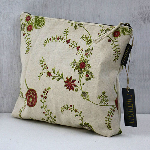 Chintz Jali Block Printed Pouch