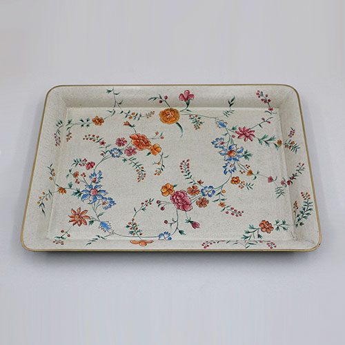 Chintz Jali All Over Hand Painted Tray - Large