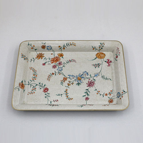 Chintz Jali All Over Hand Painted Tray - Small