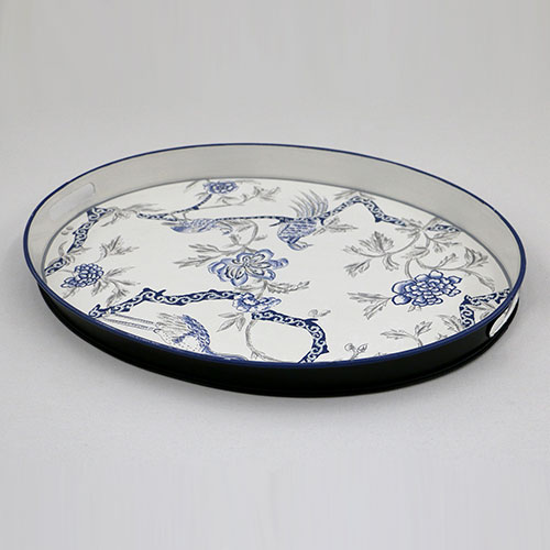 Chintz Tree Of Life Hand Painted Tray - Large