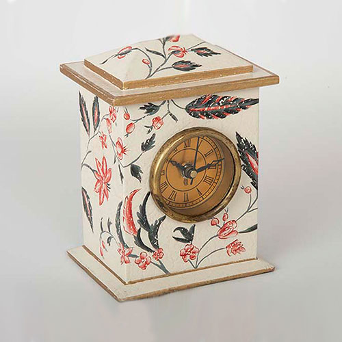 Floral Chintz Hand Painted Table Clock