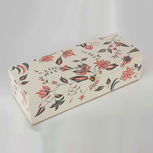 Floral Chintz Hand Painted Wooden Box