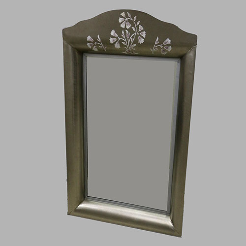 Mughal Flower Hand Painted Mirror Frame - Large