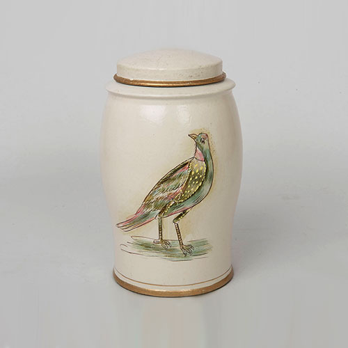 Mughal Bird Hand Painted Elephant Jar