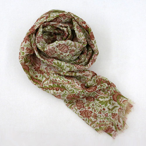 Calico Chintz Block Printed Scarf