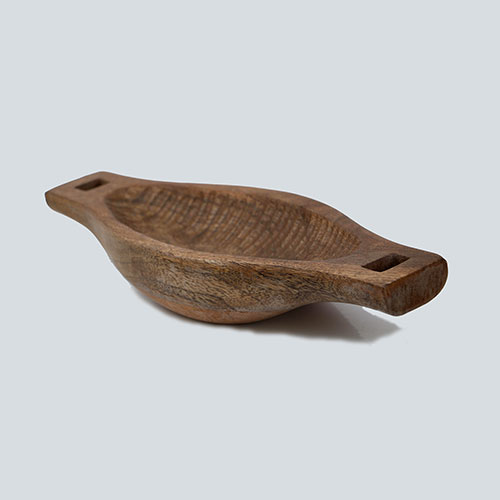Boat Shaped Wooden Bowl